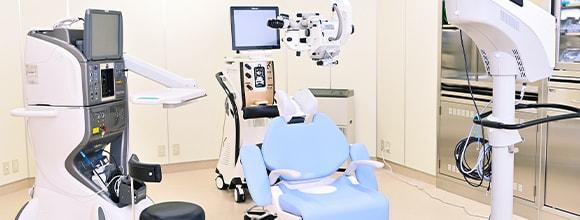最新鋭の手術器機導入幅広い手術・治療に対応